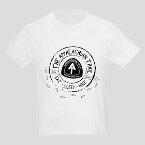 Appalachian Trail Eat-sleep-hik Kids Light T-Shirt