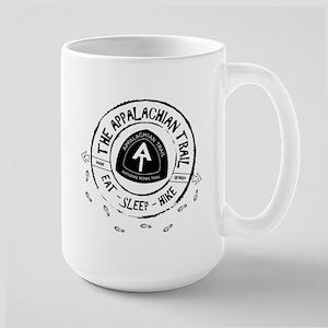 Appalachian Trail Eat-sleep-hike Large Mug