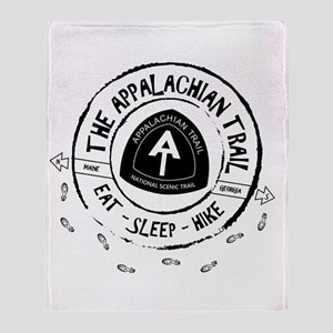 Appalachian Trail Eat-sleep-hike Throw Blanket