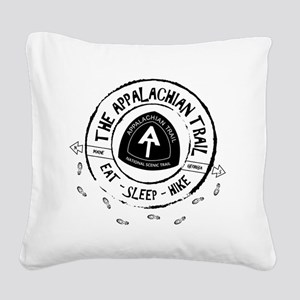 Appalachian Trail Eat-sleep-h Square Canvas Pillow