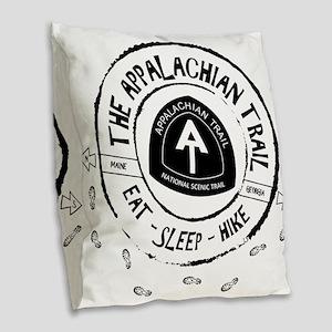 Appalachian Trail Eat-sleep-hi Burlap Throw Pillow