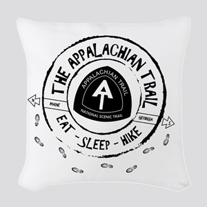 Appalachian Trail Eat-sleep-hi Woven Throw Pillow