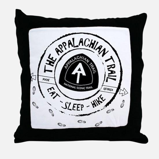 Appalachian Trail Eat-sleep-hike Throw Pillow