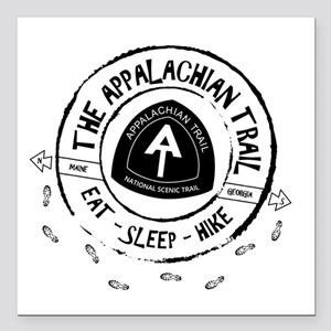 "Appalachian Trail Eat-sl Square Car Magnet 3"" x 3"""