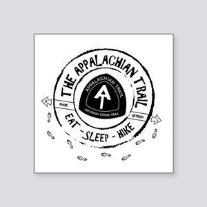 "Appalachian Trail Eat-sleep Square Sticker 3"" x 3"""