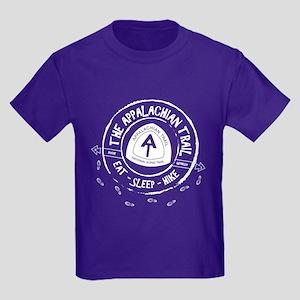 Appalachian Trail Eat-sleep-hike Kids Dark T-Shirt