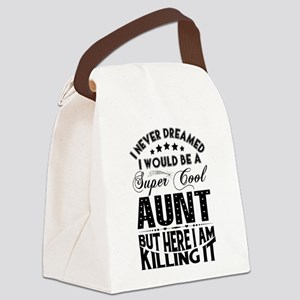 Super Cool Aunt... Canvas Lunch Bag