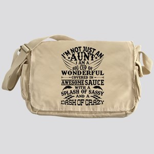 I AM NOT JUST AN AUNT! Messenger Bag