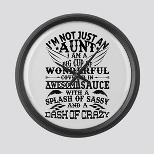 I AM NOT JUST AN AUNT! Large Wall Clock