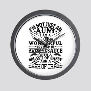 I AM NOT JUST AN AUNT! Wall Clock
