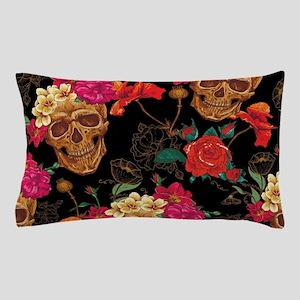 floral Skulls Pillow Case