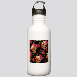 floral Skulls Stainless Water Bottle 1.0L