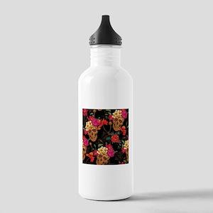 floral Skulls Stainless Water Bottle 1.0L