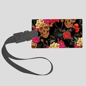 floral Skulls Large Luggage Tag