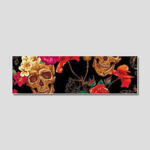 floral Skulls Car Magnet 10 x 3