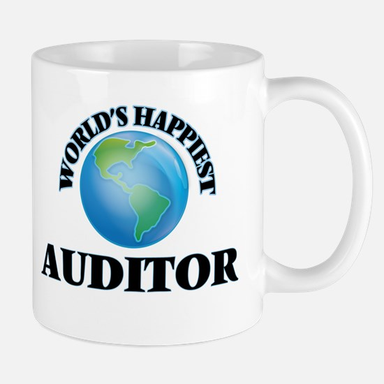 World's Happiest Auditor Mugs