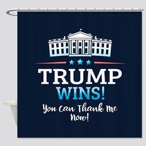 Trump Wins Shower Curtain