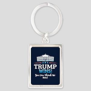 Trump Wins Portrait Keychain