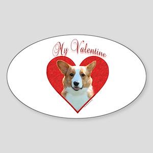 Cardigan Valentine Oval Sticker