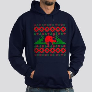 Ugly Christmas deer Hoodie (dark)