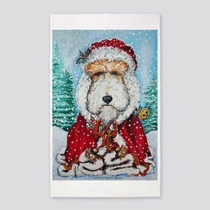Fox Terrier Santa Area Rug