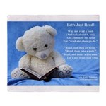 Throw Blanket, School Librarian Reading Bear