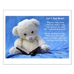 School Librarian Poster, Teddy Bear Small Poster