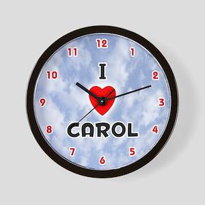 I Love Carol (Red/Blk) Valentine Wall Clock