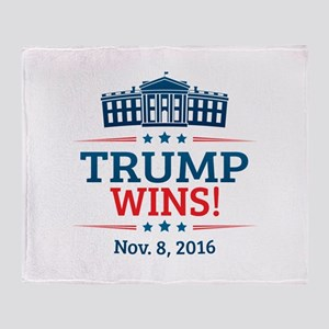 Trump Wins Throw Blanket