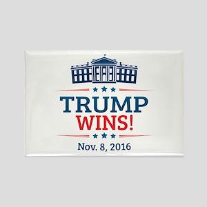 Trump Wins Rectangle Magnet