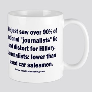Most Journalists Lied for Hillary Mug