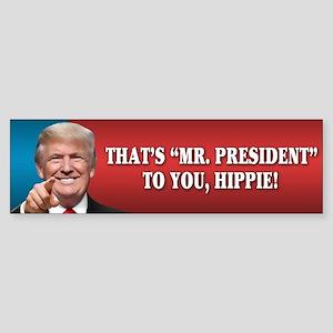 Mr. President Trump - Hippie ver. Sticker (Bumper)