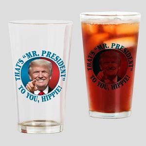 Mr. President Trump - Hippie ver.2 Drinking Glass