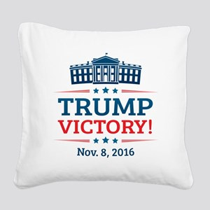 Trump Victory Square Canvas Pillow