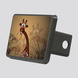 Funny, cute giraffe Hitch Cover
