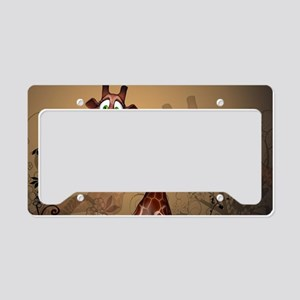 Funny, cute giraffe License Plate Holder
