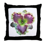 Lavender w/ Gold Daylily Throw Pillow