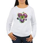 Lavender w/ Gold Daylily Women's Long Sleeve T-Shi