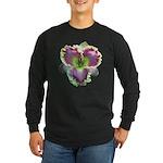 Lavender w/ Gold Daylily Long Sleeve Dark T-Shirt
