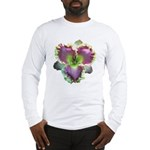 Lavender w/ Gold Daylily Long Sleeve T-Shirt