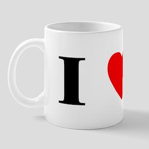 I Heart Chinese Crested Mug