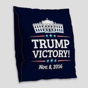 Trump Victory Burlap Throw Pillow