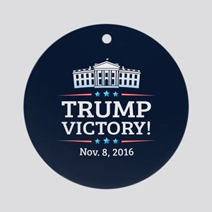 Trump Victory Round Ornament