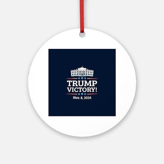 Trump Victory Round Ornament