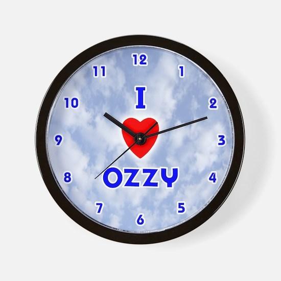 I Love Ozzy (Blue) Valentine Wall Clock
