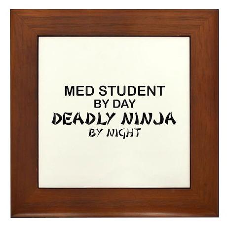 Med Student Deadly Ninja Framed Tile