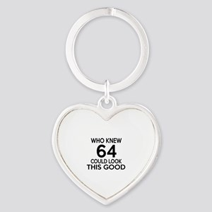 Who Knew 64 Could Look This Good Heart Keychain