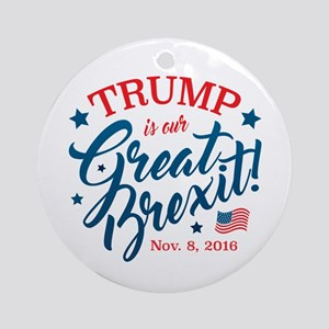 Trump Brexit Round Ornament