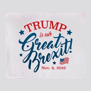 Trump Brexit Throw Blanket