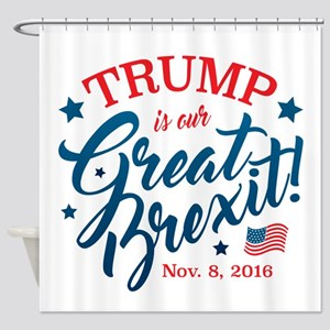 Trump Brexit Shower Curtain